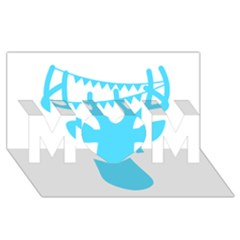 Party Deer With Bunting MOM 3D Greeting Card (8x4)