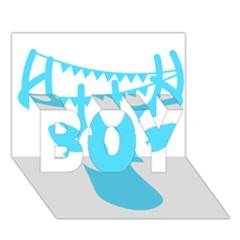 Party Deer With Bunting Boy 3d Greeting Card (7x5)
