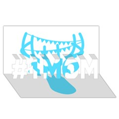 Party Deer With Bunting #1 MOM 3D Greeting Cards (8x4)