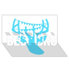 Party Deer With Bunting BEST BRO 3D Greeting Card (8x4)