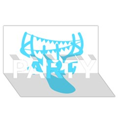 Party Deer With Bunting Party 3d Greeting Card (8x4)