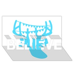 Party Deer With Bunting BELIEVE 3D Greeting Card (8x4)