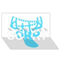 Party Deer With Bunting SORRY 3D Greeting Card (8x4)