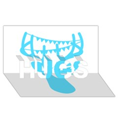 Party Deer With Bunting HUGS 3D Greeting Card (8x4)