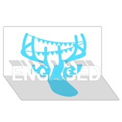 Party Deer With Bunting ENGAGED 3D Greeting Card (8x4)