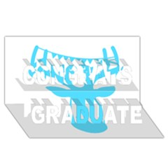 Party Deer With Bunting Congrats Graduate 3D Greeting Card (8x4)