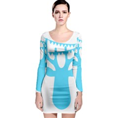 Party Deer With Bunting Long Sleeve Bodycon Dresses