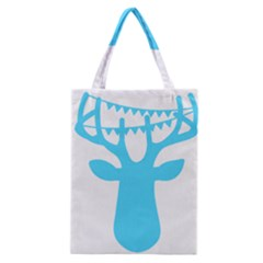 Party Deer With Bunting Classic Tote Bags