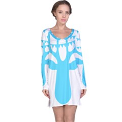 Party Deer With Bunting Long Sleeve Nightdresses