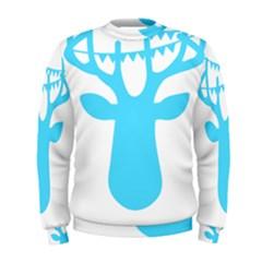 Party Deer With Bunting Men s Sweatshirts