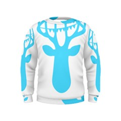 Party Deer With Bunting Boys  Sweatshirts