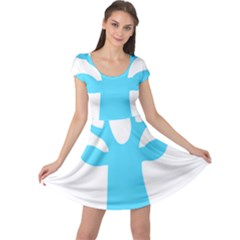 Party Deer With Bunting Cap Sleeve Dresses