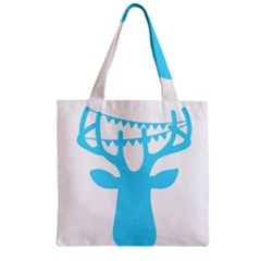 Party Deer With Bunting Zipper Grocery Tote Bags