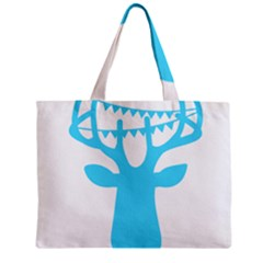 Party Deer With Bunting Zipper Tiny Tote Bags