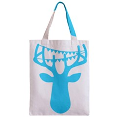 Party Deer With Bunting Zipper Classic Tote Bags