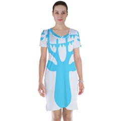 Party Deer With Bunting Short Sleeve Nightdresses
