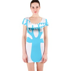 Party Deer With Bunting Short Sleeve Bodycon Dresses