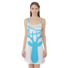 Party Deer With Bunting Satin Night Slip