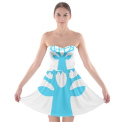 Party Deer With Bunting Strapless Bra Top Dress