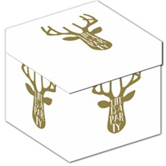 Life Is A Party Buck Deer Storage Stool 12