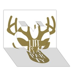 Life Is A Party Buck Deer Heart 3D Greeting Card (7x5)