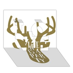 Life Is A Party Buck Deer LOVE 3D Greeting Card (7x5)