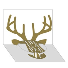 Life Is A Party Buck Deer Circle Bottom 3D Greeting Card (7x5)