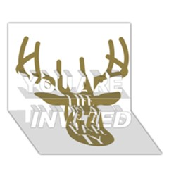 Life Is A Party Buck Deer YOU ARE INVITED 3D Greeting Card (7x5)