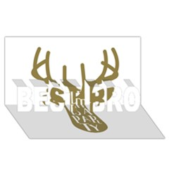 Life Is A Party Buck Deer BEST BRO 3D Greeting Card (8x4)
