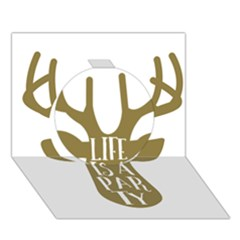 Life Is A Party Buck Deer Circle 3d Greeting Card (7x5)