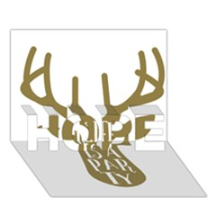 Life Is A Party Buck Deer HOPE 3D Greeting Card (7x5)