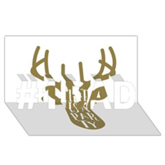 Life Is A Party Buck Deer #1 DAD 3D Greeting Card (8x4)