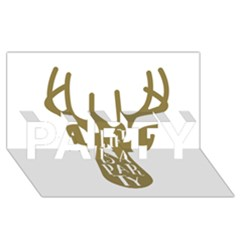 Life Is A Party Buck Deer Party 3d Greeting Card (8x4)
