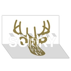 Life Is A Party Buck Deer SORRY 3D Greeting Card (8x4)