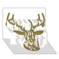 Life Is A Party Buck Deer THANK YOU 3D Greeting Card (7x5)