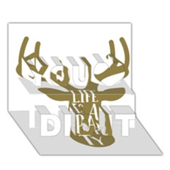 Life Is A Party Buck Deer You Did It 3D Greeting Card (7x5)