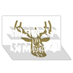 Life Is A Party Buck Deer Merry Xmas 3d Greeting Card (8x4)
