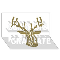 Life Is A Party Buck Deer Congrats Graduate 3d Greeting Card (8x4)
