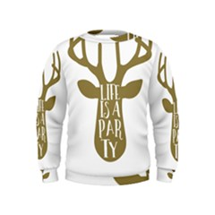 Life Is A Party Buck Deer Boys  Sweatshirts