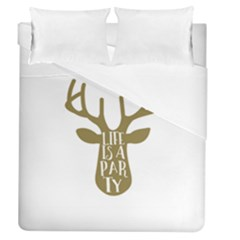 Life Is A Party Buck Deer Duvet Cover Single Side (full/queen Size)
