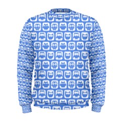 Blue And White Owl Pattern Men s Sweatshirts