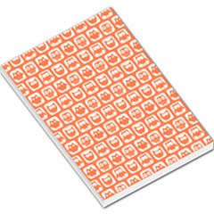 Coral And White Owl Pattern Large Memo Pads