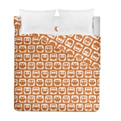 Orange And White Owl Pattern Duvet Cover (twin Size)