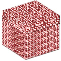 Red And White Owl Pattern Storage Stool 12