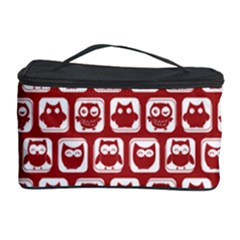 Red And White Owl Pattern Cosmetic Storage Cases