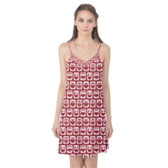 Red And White Owl Pattern Camis Nightgown