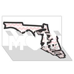 Florida Map Pride Chevron MOM 3D Greeting Card (8x4)