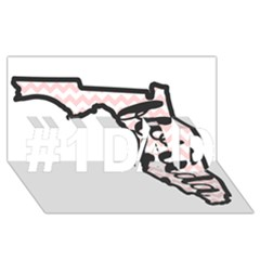 Florida Map Pride Chevron #1 Dad 3d Greeting Card (8x4)