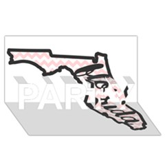 Florida Map Pride Chevron PARTY 3D Greeting Card (8x4)