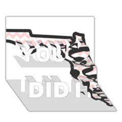 Florida Map Pride Chevron You Did It 3d Greeting Card (7x5)